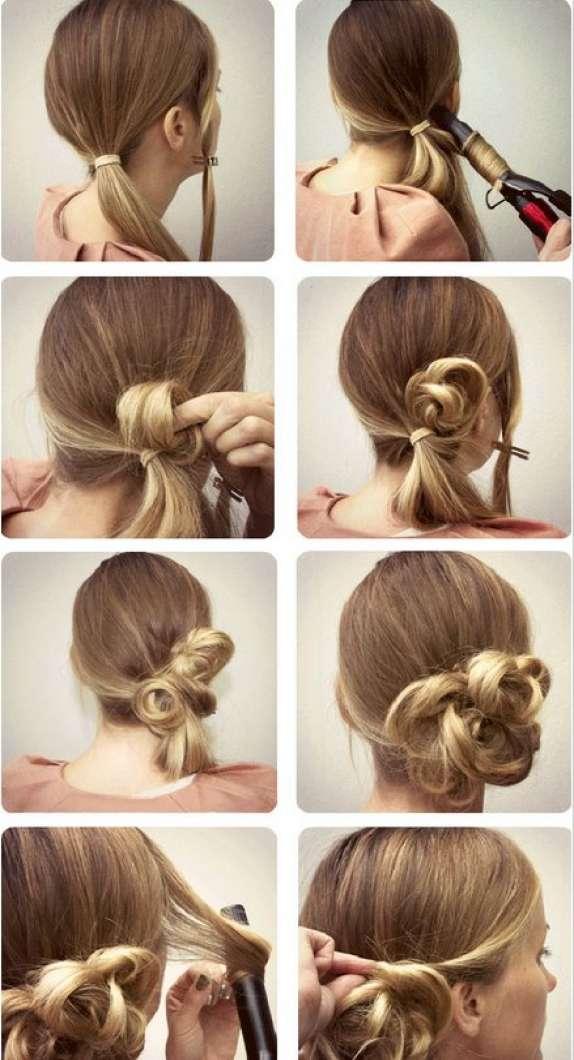 Интересные причёски на длинные волосы на каждый день своими руками 12