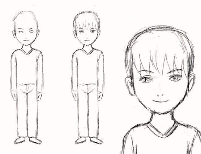 Как нарисовать нос человека карандашом поэтапно для детей