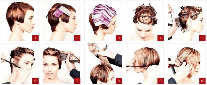 Как покрасить короткие волосы в домашних условиях самому себе 474