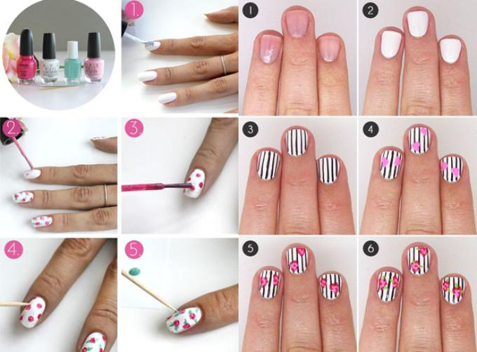 Как сделать красивые рисунки на ногтях 780
