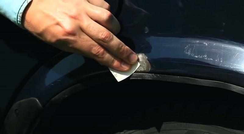 Как убрать мелкие сколы на машине своими руками 98